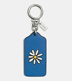 COACH BOXED FLOWERS HANGTAG CHARM