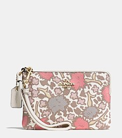COACH SMALL WRISTLET IN YANKEE FLORAL CANVAS