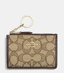 COACH BOXED MINI ID SKINNY IN SIGNATURE JACQUARD