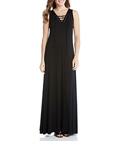Karen Kane® Lace Up Maxi Dress