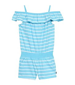 Nautica® Girls' 2T-6X Striped Jersey Romper