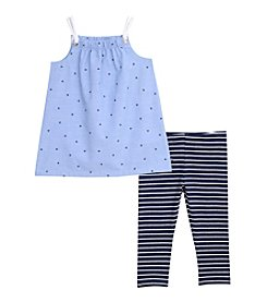Nautica® Girls' 2T-6X 2-Piece Top And Legging Set