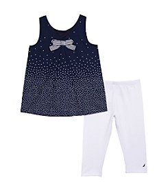 Nautica® Girls' 2T-6X 2-Piece Top And Leggings Set