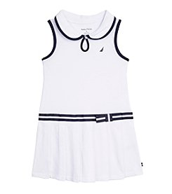 Nautica® Girls' 2T-6X Pleated Pique Dress