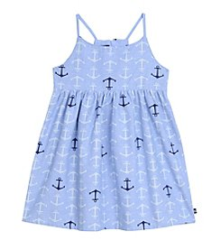 Nautica® Girls' 2T-6X Anchor Print Chambray Dress