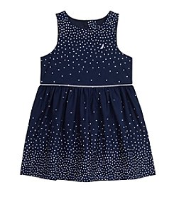 Nautica® Girls' 2T-6X Poplin Engineer Dot Dress