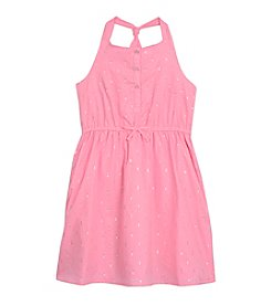 Nautica® Girls' 2T-6X Metallic Clipdot Dress
