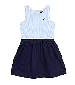 Nautica® Girls' 2T-6X Stripe Oxford Jersey Dress
