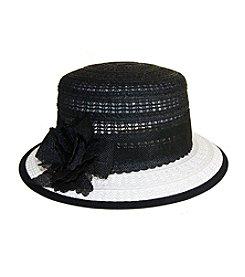 Nine West® Flower Embellished Boater Hat
