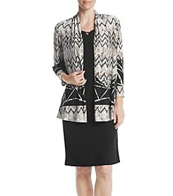 R&M Richards® Printed Jacket Dress