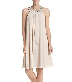 Jessica Howard® Ruffled Front Necklace Dress