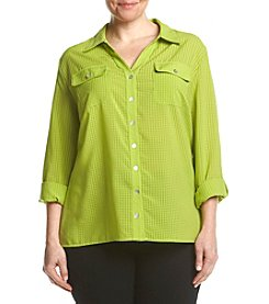 Studio Works® Plus Size Utility Blouse