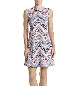 AGB® Chevron Printed Dress