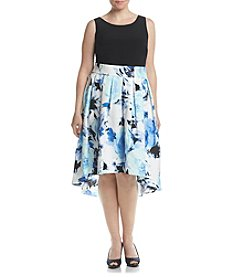 S.L. Fashions Plus Size High Low Hem Dress