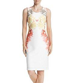 Calvin Klein Scuba Knit Floral Sheath Dress