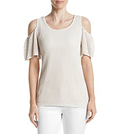 Calvin Klein Textured Cold Shoulder Top