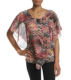 Studio Works® Petites' Printed Poncho Top