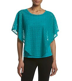 Studio Works® Petites' Elbow Sleeve Round Poncho Top
