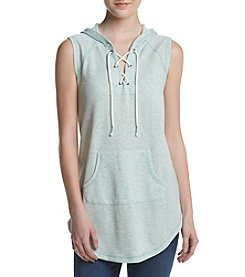 Inspired Hearts® Hooded Lace Up Sleeveless Pullover