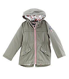 Carter's® Girls' 4-6X Solid Anorak Jacket with Print Hood