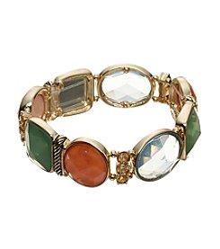Napier® Faceted Stone Stetch Bracelet