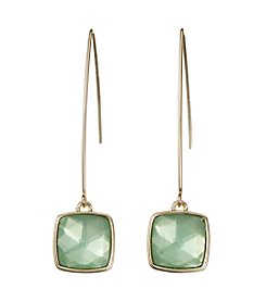 Napier® Faceted Square Drop Earrings