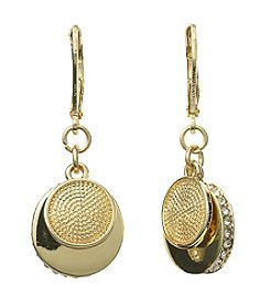 Napier® Double Disc Drop Earrings
