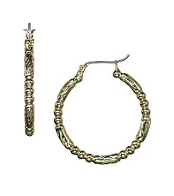 Napier® Stylized Hoop Earrings