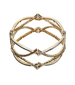 Napier® Two Tone Openwork Stretch Bracelet