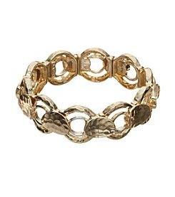 Napier® Two Tone Circle And Disc Stretch Bracelet