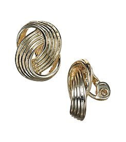 Napier® Flat Loop Clip On Earrings