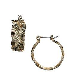 Napier® Woven Hoop Earrings
