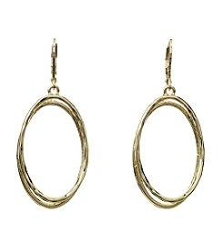 Napier® Double Oval Drop Earrings