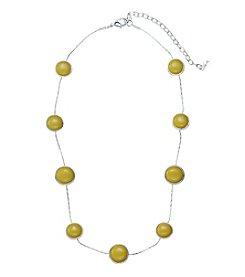 Napier® Circle Station Necklace
