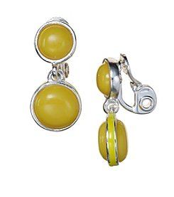 Napier® Double Drop EZ Clip Earrings
