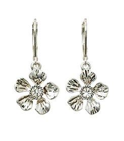 Napier® Flower Drop Earrings