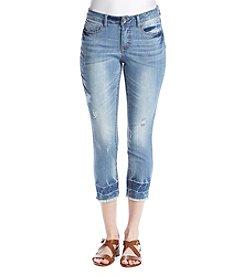 Ruff Hewn Fray Hem Crop Jeans