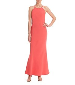 Calvin Klein Crepe Gown Dress