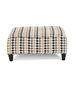 HM Richards Caprice Houndstooth Cocktail Ottoman