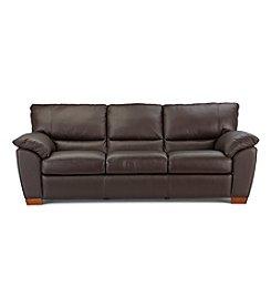 Natuzzi Editions® Trento Brown Leather Sofa