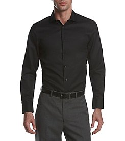 Perry Ellis® Men's Long Sleeve Slim Fit Button Front Shirt