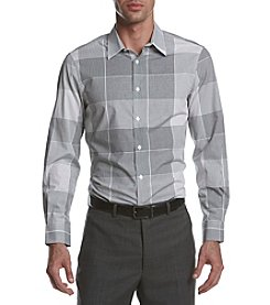 Perry Ellis® Men's Long Sleeve Woven Checked Shirt