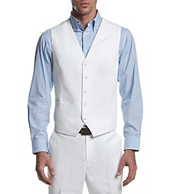 Perry Ellis® Men's Linen Cotton Twill Suit Vest