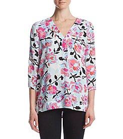 Chaus® Beach Floral Print Blouse