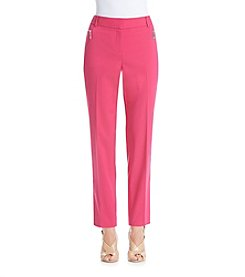 Chaus Zippered Pocket Casual Pants
