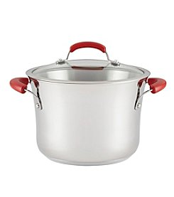 Rachael Ray® Stainless Steel 6.5-Quart Nonstick Covered Stockpot
