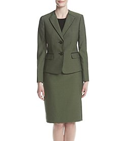 LeSuit® Double Button Jacket and Skirt Suit Set