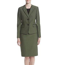 LeSuit® Double Button Jacket and Skirt Suit Set