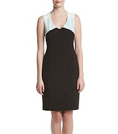 Jones New York® Crepe Colorblock Dress