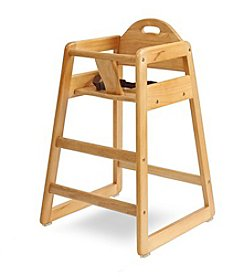 LA BABY Solid Wood High Chair